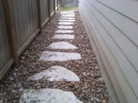 FLAGSTONE WALKWAY SET IN RIVER ROCK | Designs completed by ...