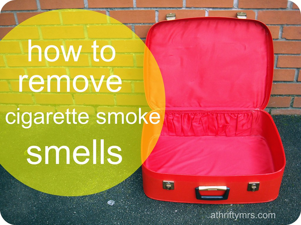 how to clean leather sofa that smells of smoke mint green set remove cigarette athriftymrs