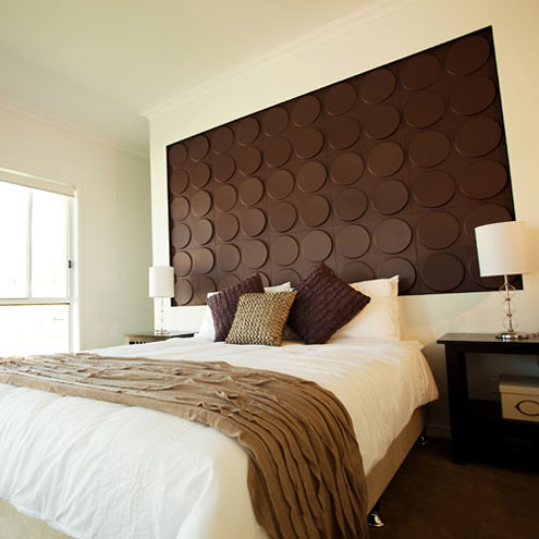 Embossed wall panels and 3d wall papers can be painted and