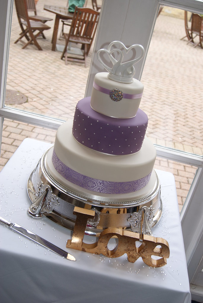 Lilac Wedding Cake Lilac Wedding Cake With Topper From