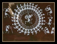 Warli Painting on Forest Office Walls at SGNP | Flickr ...
