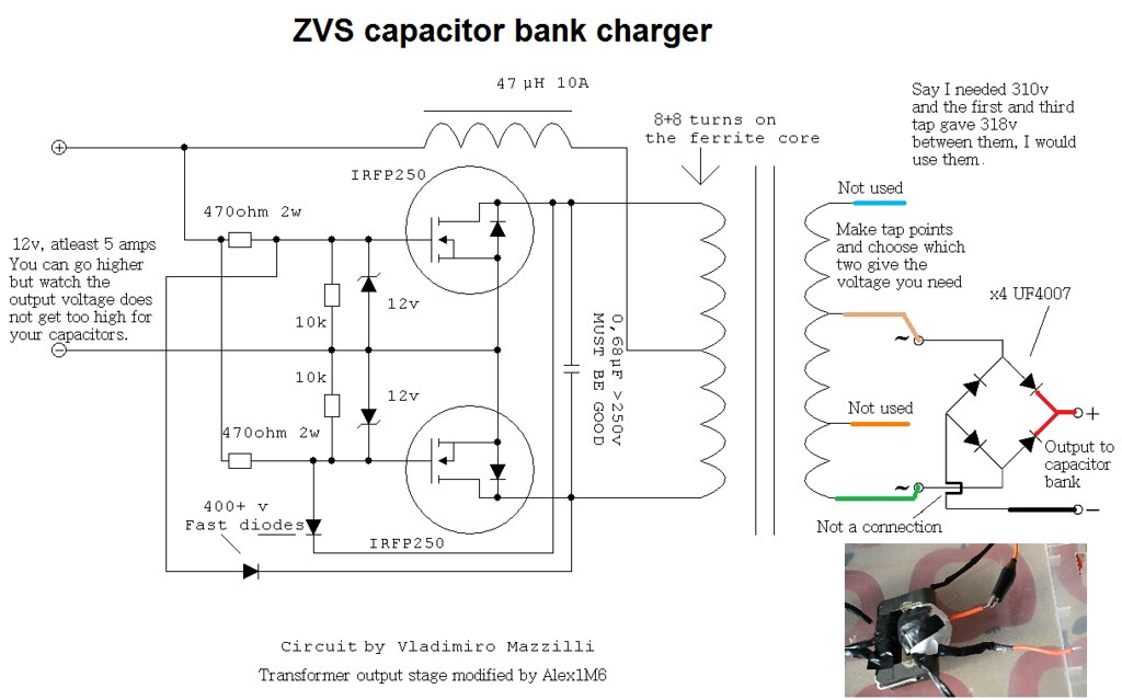 how to create a diagram 2 battery boat wiring zvs capacitor charger circuit | charge your bank w… flickr