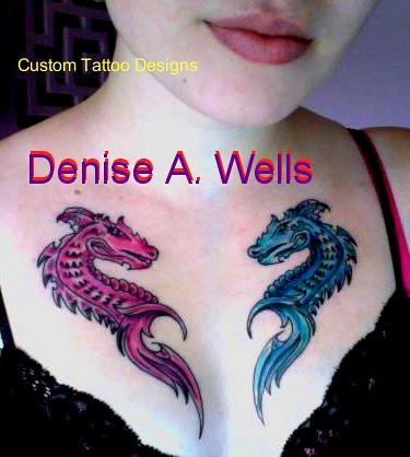 dragon heart tattoo inked design