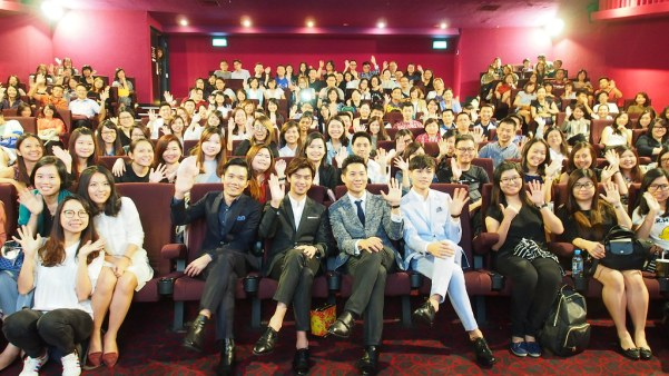 Tan Shijie, Chen Bolin, Anthony Chen and Cheng Huanlin with a full house of fans.