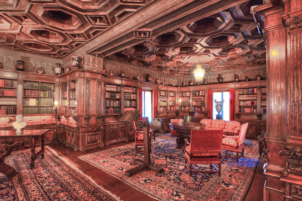 Hearst Castle  Library  Guests of the historic California   Flickr