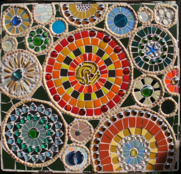 Abstract Glass Mosaic Patterns