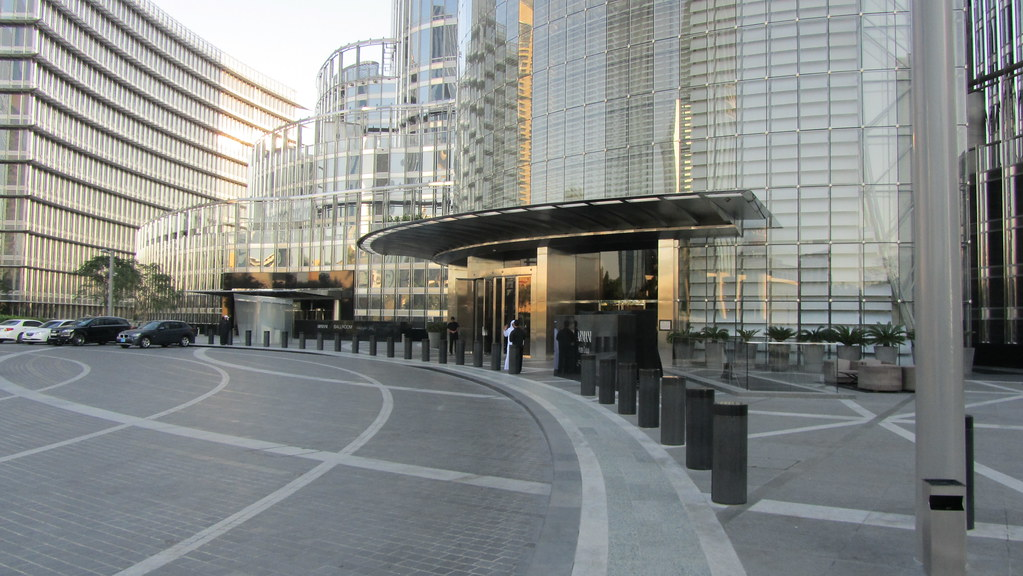 Entrance to the Armani Hotel at the Burj Khalifa  David