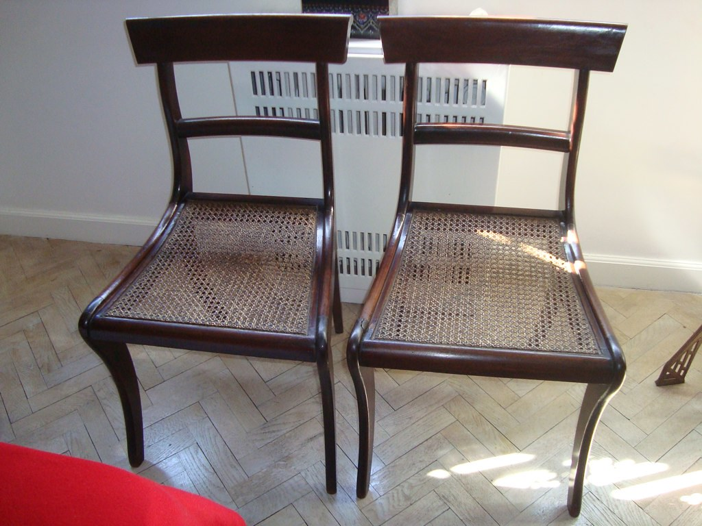 cane bottom chairs kitchen on wheels antique 2 us 150 the pair