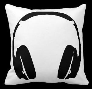 Headphone Throw Pillow  wwwzazzlecomheadphones_pillow