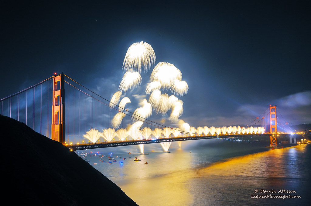 Wallpaper Falling Stars Golden Gate Fireworks Golden Gate Bridge 75th Anniversar