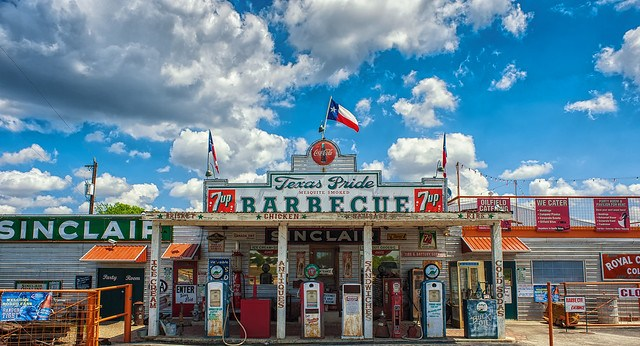 Texas Pride Barbecue is a good place to check out after you get to your booked Hipmunk Hotel.
