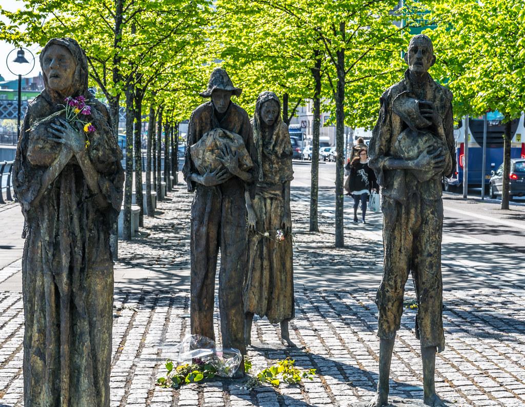 FAMINE MEMORIAL BY ROWAN GILLESPIE DUBLIN DOCKLANDS  CUS  Flickr