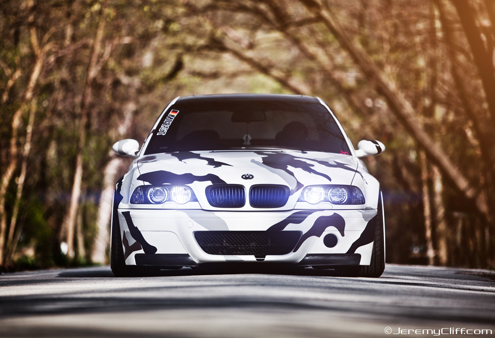 Arctic Camo e46 BMW M3 for Tuning Magazine  Arctic Camo