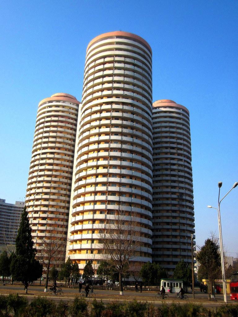 North Korea Pyongyang Kwangbok Street fancy cylindershap