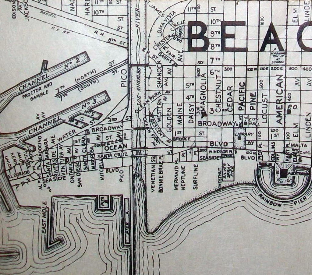 Long Beach CA 1944  Map by Thomas Brothers Maps Map is