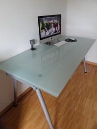 glass top desk ikea  Roselawnlutheran