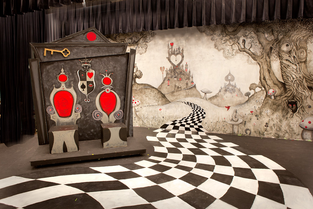 Alice in Wonderland Set  View of all the elements I