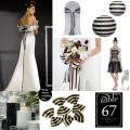 Black and white striped wedding by soo12