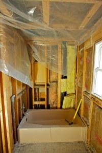 Bathroom Remodel - Day One 1 | Bathroom Remodel - End of ...