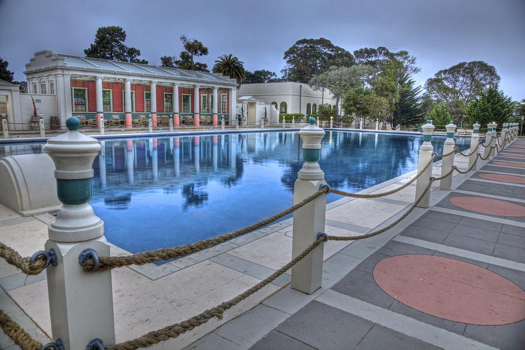 Roman Plunge Pool at Naval Postgraduate School in Monterey