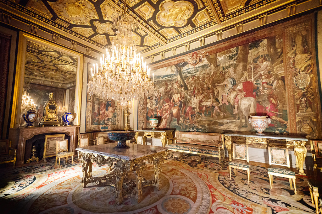 Palace of Fontainebleau  Popes Apartments Reception Room