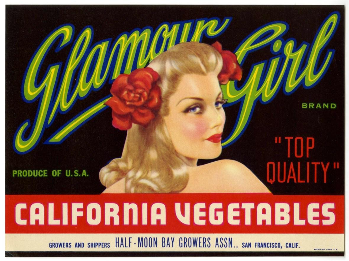 Glamour Girl Brand - Half-Moon Bay Growers Association - San Francisco, California U.S.A. - date unknown