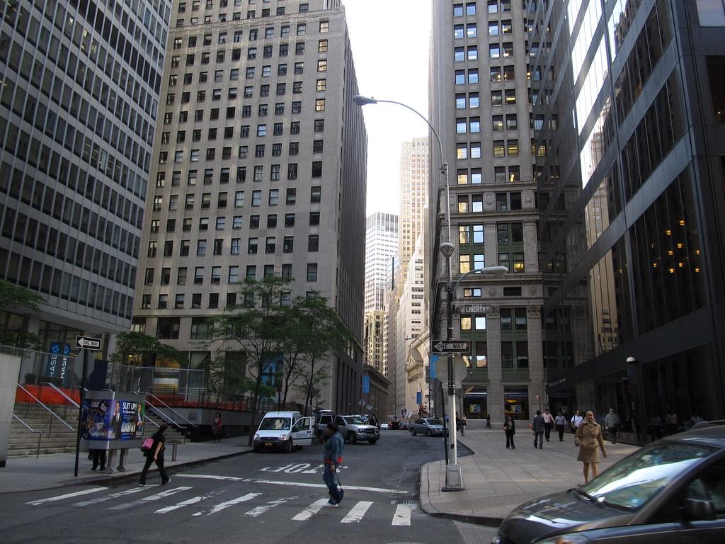 Nassau Street Between Marine Midland Building and One Chas
