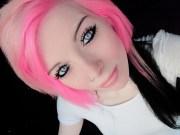 pink blond and black emo girl scene