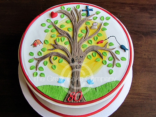 Family Tree Cake  The top of this cake was made to
