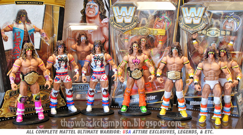 WWE Ultimate Warrior Mattel Exclusive  Complete Set of WWE   Flickr
