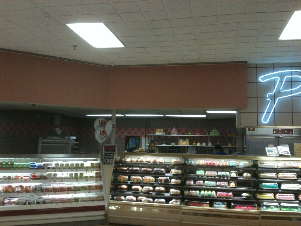 Kroger Bakery  Notice again the pink tile in the bakery