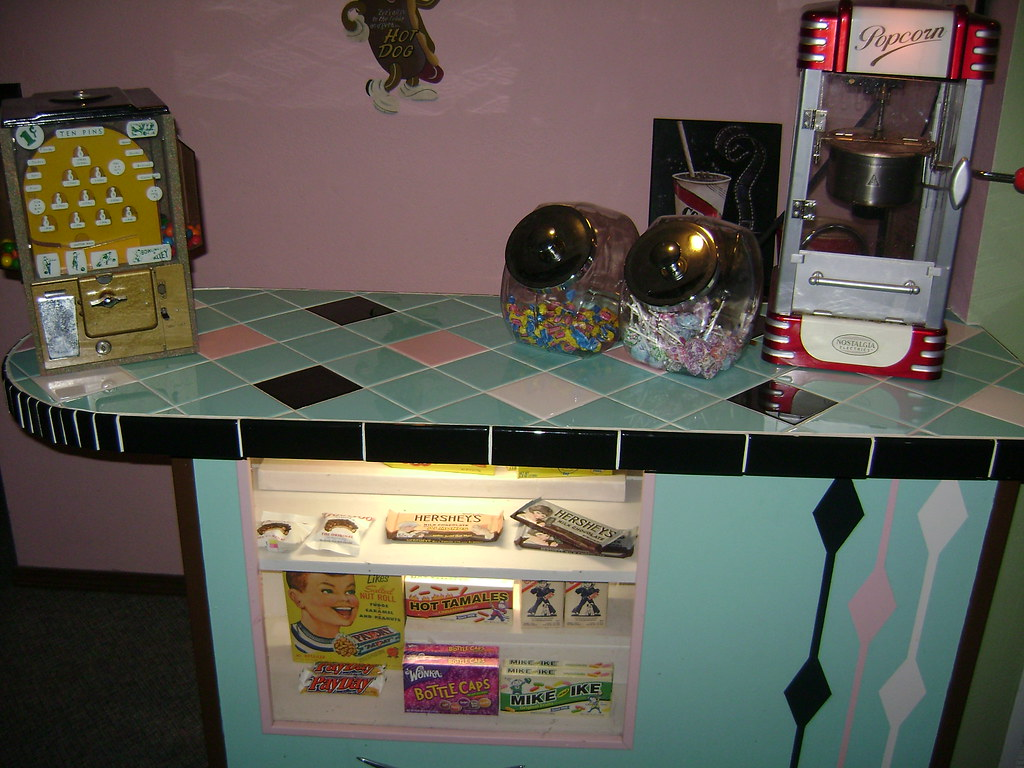 1950s Drive In Movie Theater Concession Stand  I
