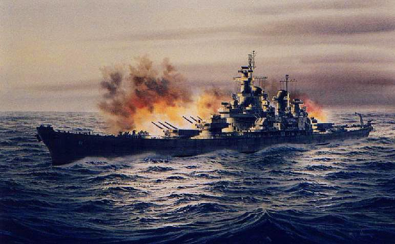 Carrier Girl Wallpaper Uss Iowa Bb 61 Firing Full Size 721 X 433 Greg