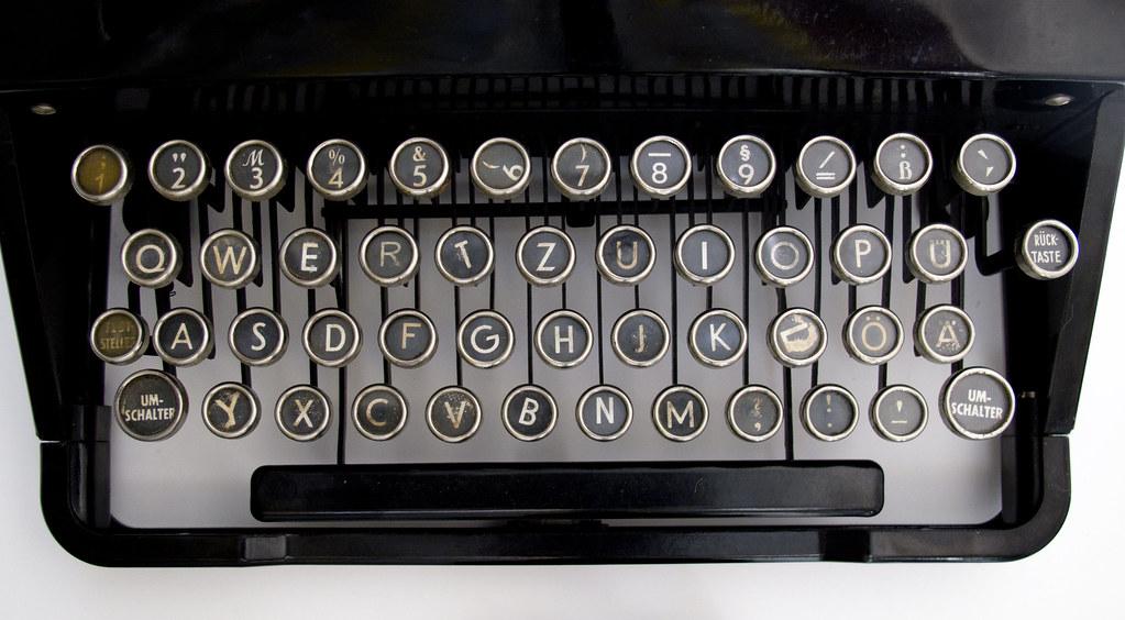 Voss Typewriter Keyboard Voss Typewriter No F321 1949 Flickr