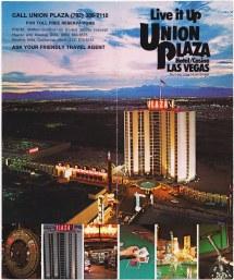 Retro Las Vegas 1980s Union Plaza Hotel Brochure Brian