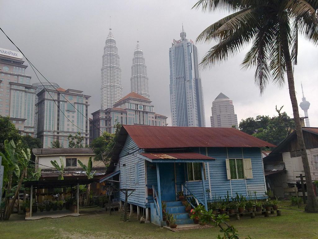 3d Wallpaper Malaysia Kampung Baru Kl Pemandangan Rumah Tradisional Di Kampung