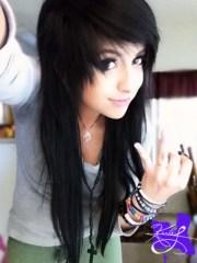 emo girl hair cut