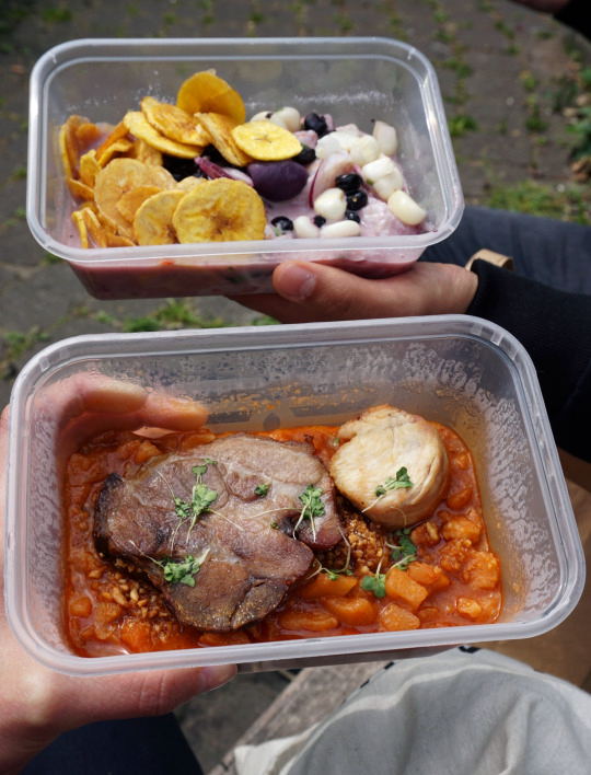 Gluten free Inka style sundried potato stew and ceviche from Tierra Peru in Islington
