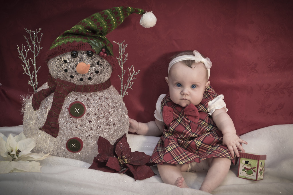 Gianna Christmas Photo Shoot It Is Our Babys First