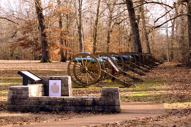 Shiloh Battlefield Line of Cannons in a Field  Flickr  Photo Sharing