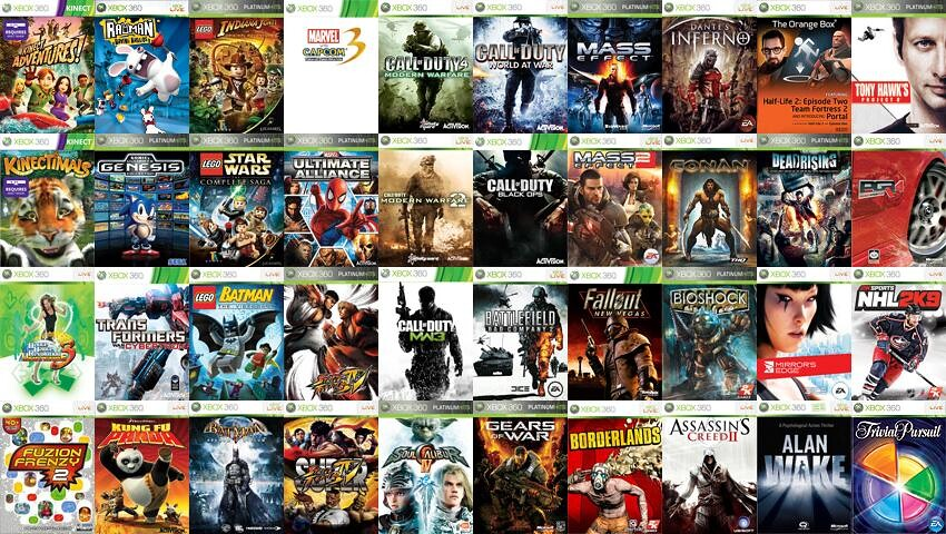 My Xbox 360 Games Collection November 2011