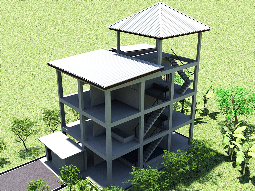 Gambar Desain 3D Rumah Walet di Bukit Pasir Malaysia 6