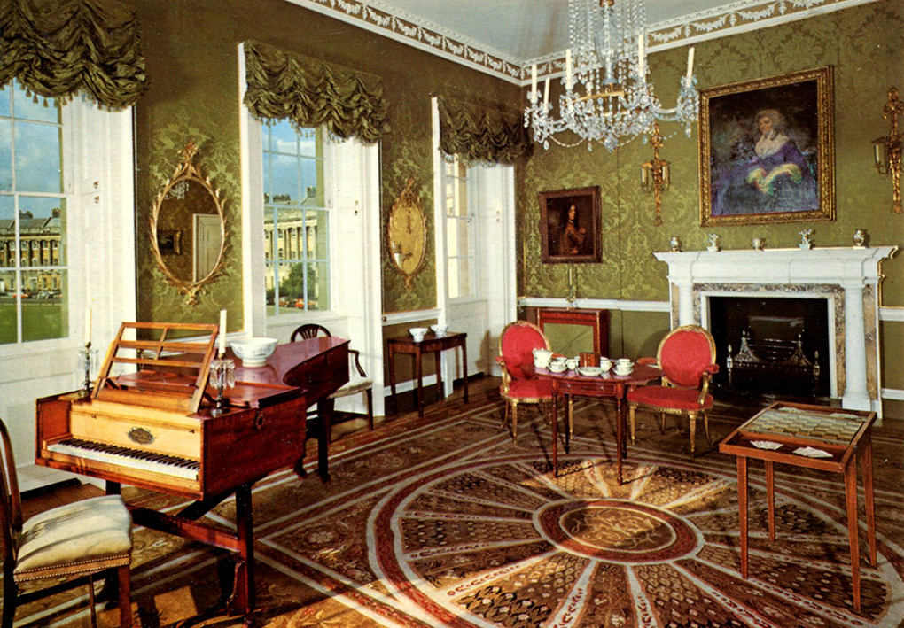 Bath  Drawing Room at No 1 Royal Crescent Postcard