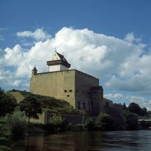 Narva Castle With Big Hermann Tower In