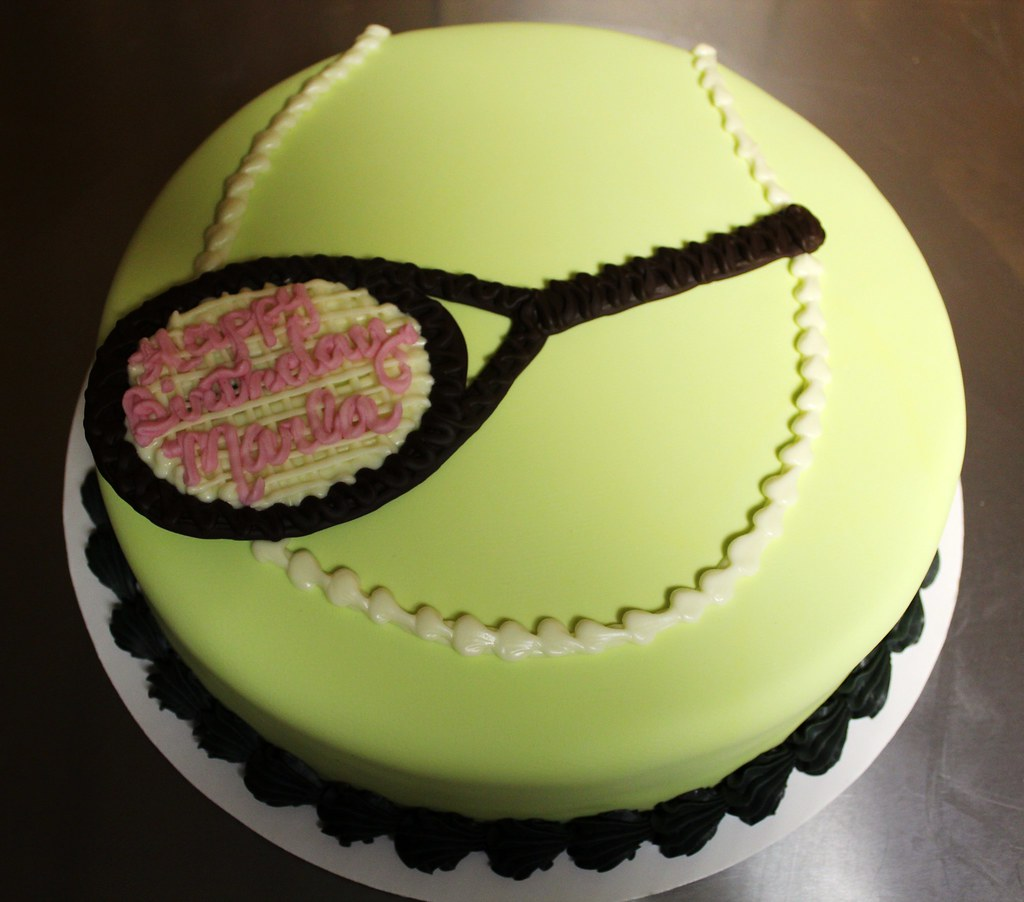 Tennis Ball Birthday cake by Tony The Pastryarch Albanes