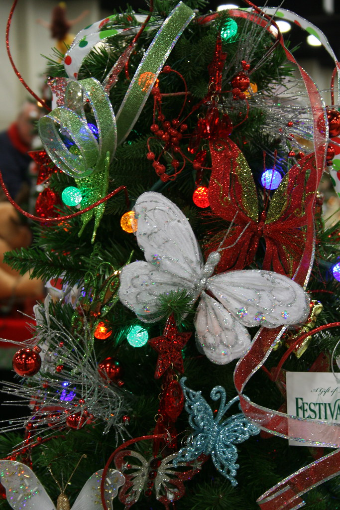 Butterfly Christmas Tree Decorated By Children Carters
