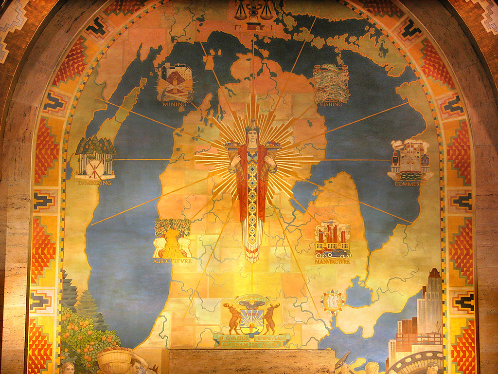 Michigan Mural  Painted in the late 1920s by Ezra Winter
