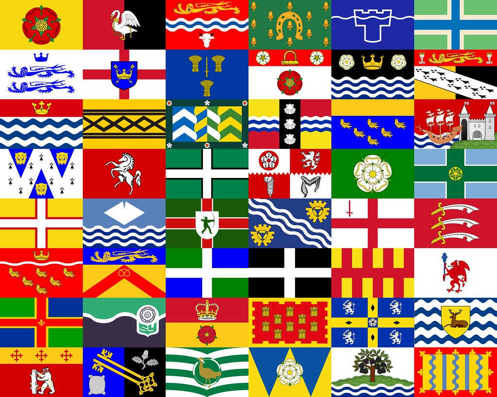 The County Flags Of England