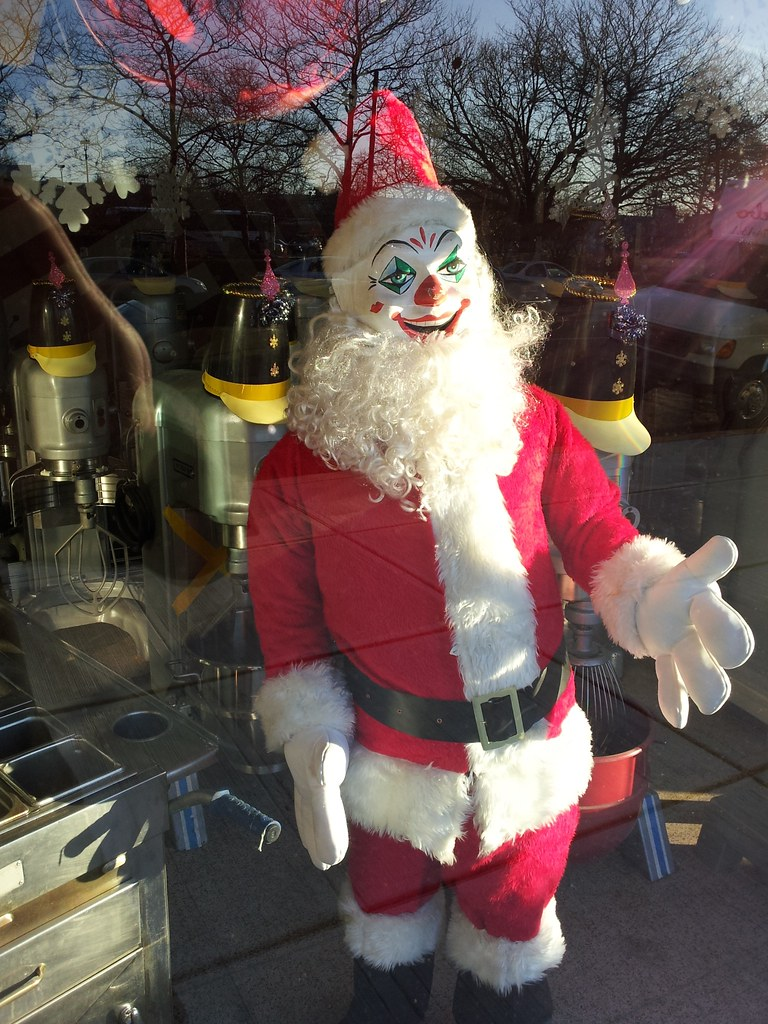 Santa Clown Spotted In Asbury Park At The Restaurant