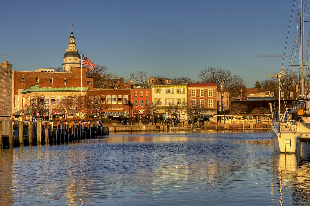 Winter Sunrise At Annapolis City Dock Ego Alley